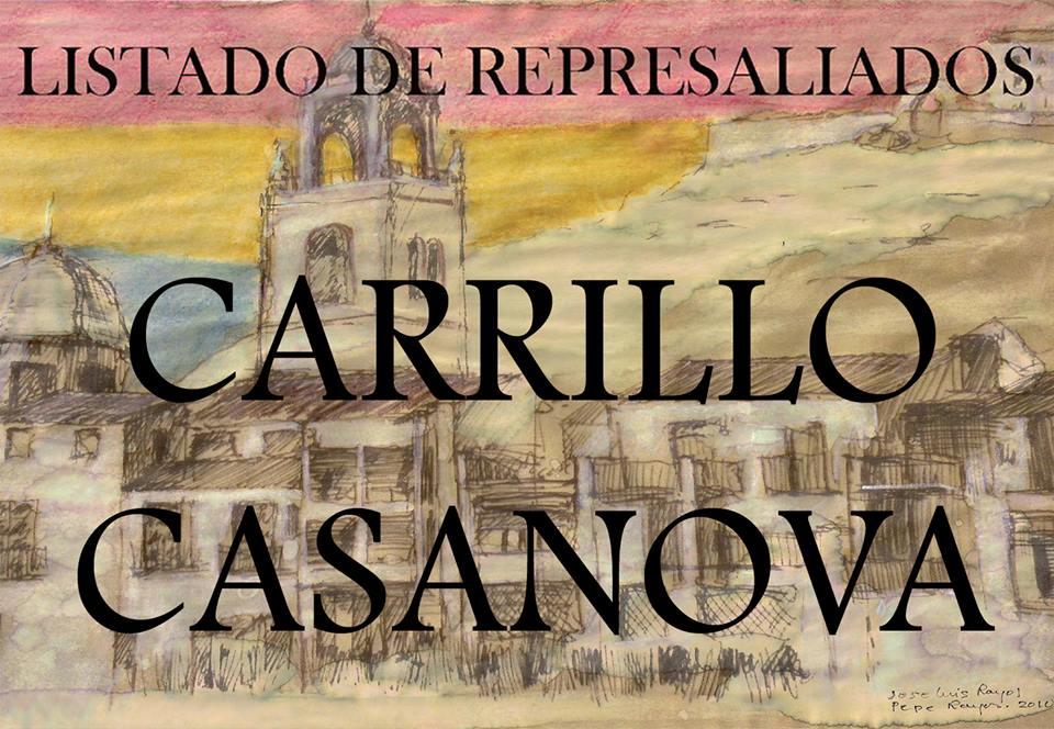 LISTADO DE REPRESALIADOS 13: CARRILLO-CASANOVA.