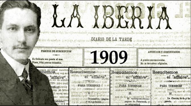 Justo García Soriano. 13. 1909.